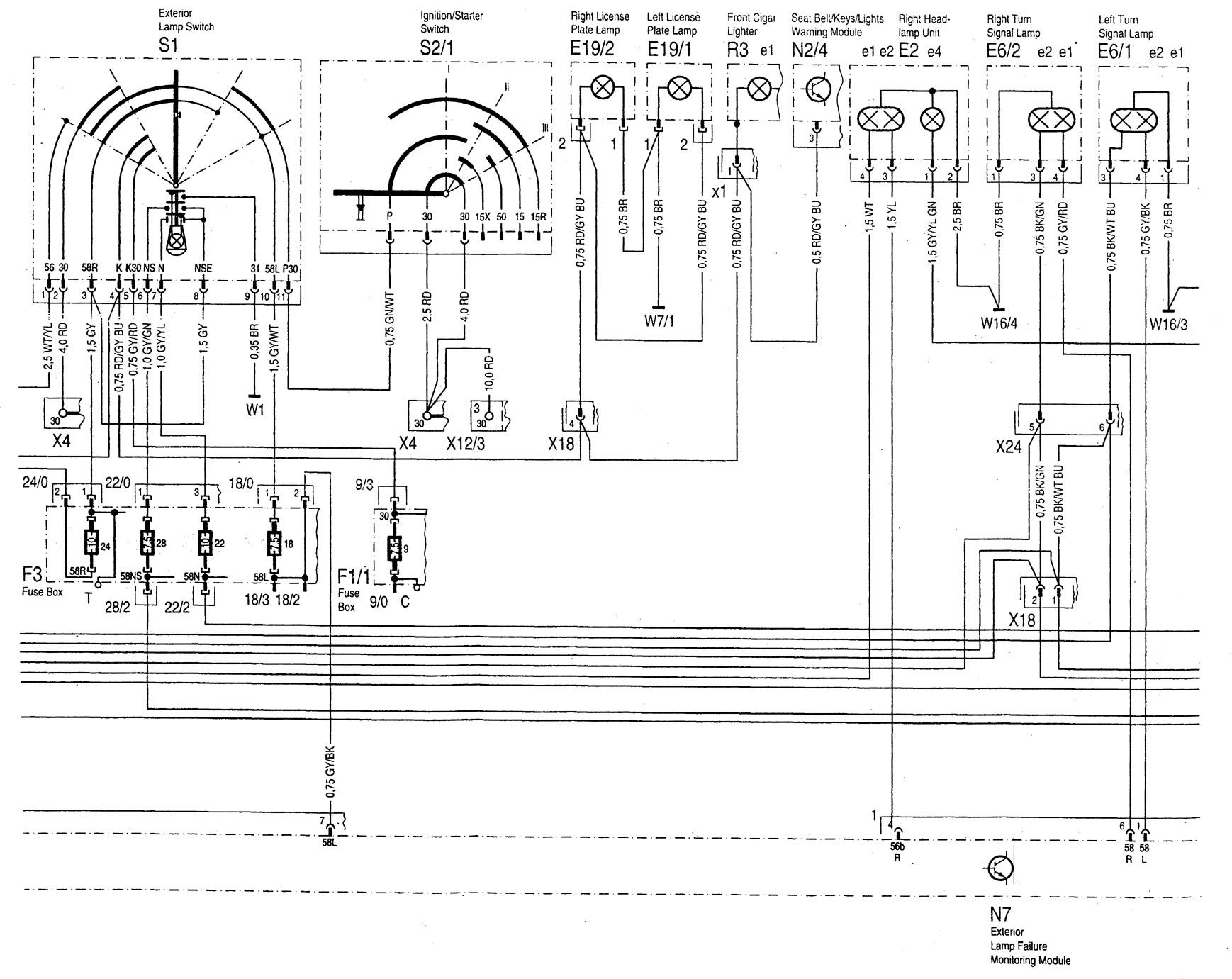 wiring diagram for mercedes benz 1997 c280