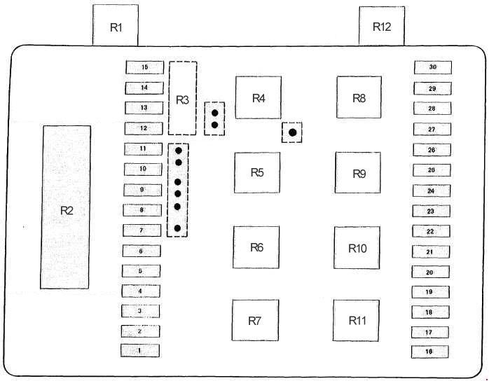 bmw e23 fuse box diagram