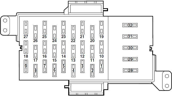 Ford Crown Victoria (2003 \u2013 2013) \u2013 fuse box diagram - CARKNOWLEDGE