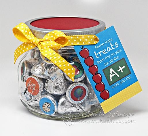 Quick Teacher Appreciation Candy Jar Gift Carla Schauer Designs