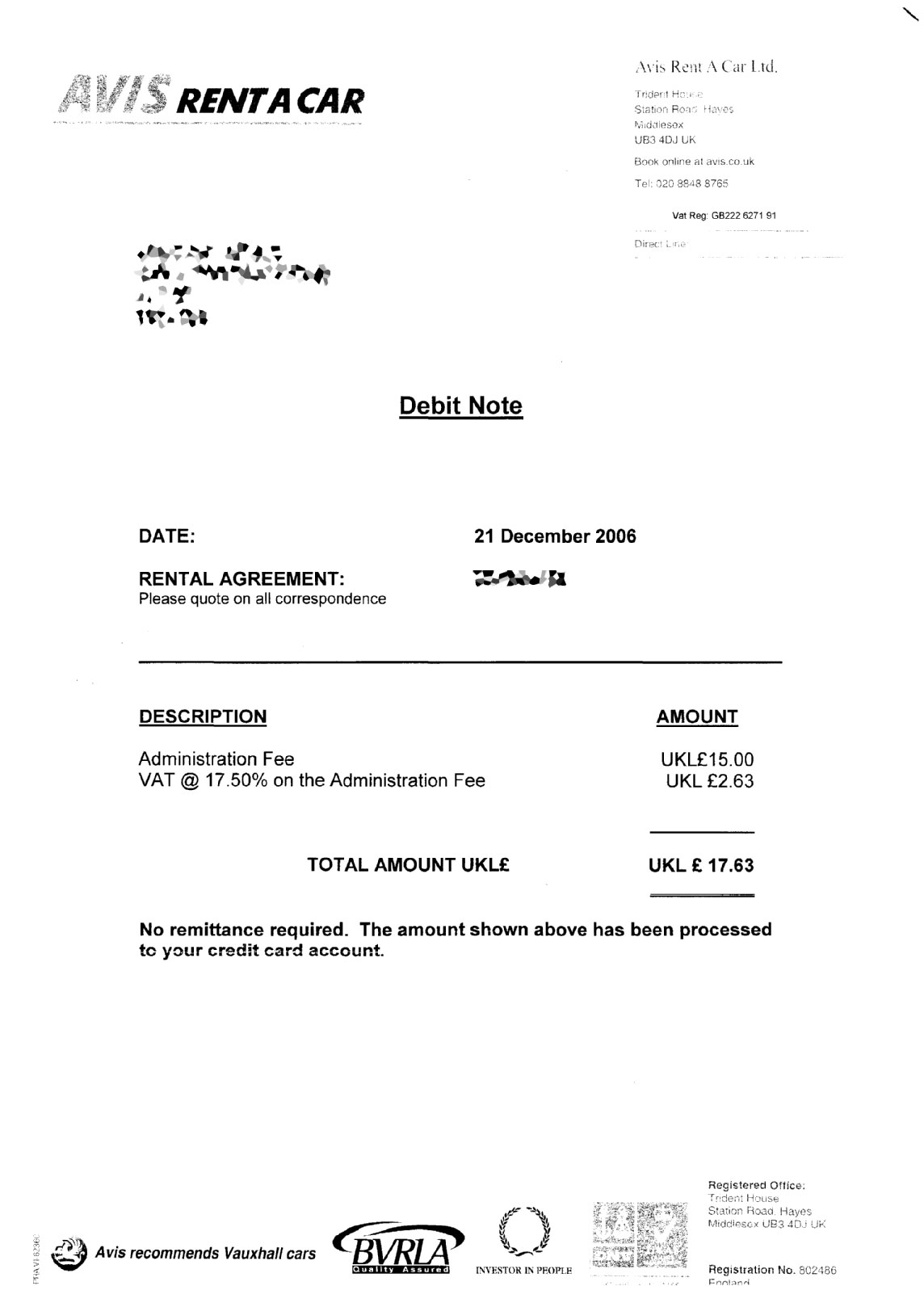 debit note sample – Debit Memo Sample