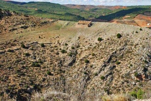 Paisaje rocoso en el río Mesa