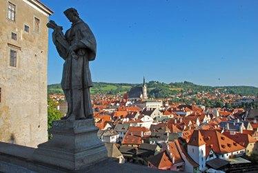Vista de Cesky Krumlov desde el puente del Castillo