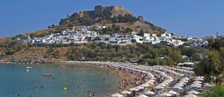 Playa y Acrópolis de Lindos