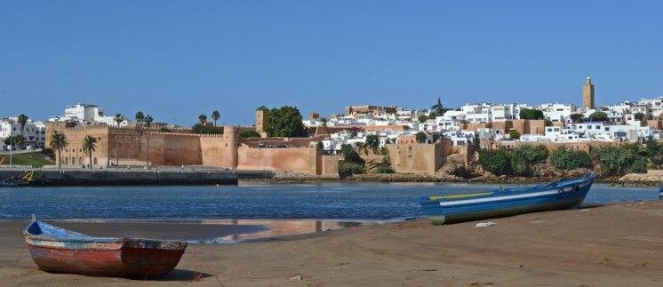 Barcas en Salé y Kasbah de los Udayas