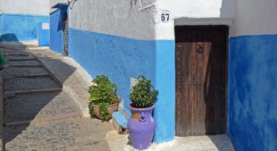 Kasbah de los Udayas. Puerta y Calle