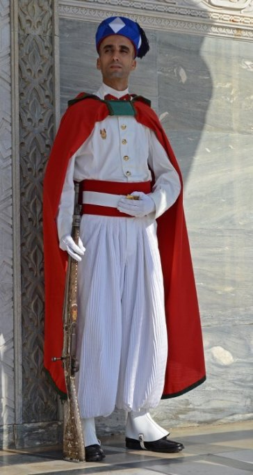 Mausoleo Mohammed V. Guardia Real
