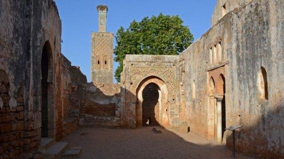 Necrópolis de Chellah. Interior Mezquita y Minarete