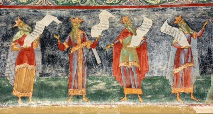 Monasterio Sucevita. Árbol de Jesé. Profetas