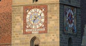 Brasov. Reloj de la Iglesia Negra