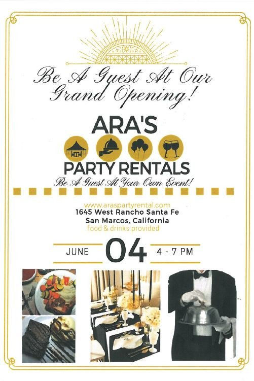 Ara\u0027s Party Rental Grand Opening Carlsbad Chamber of Commerce