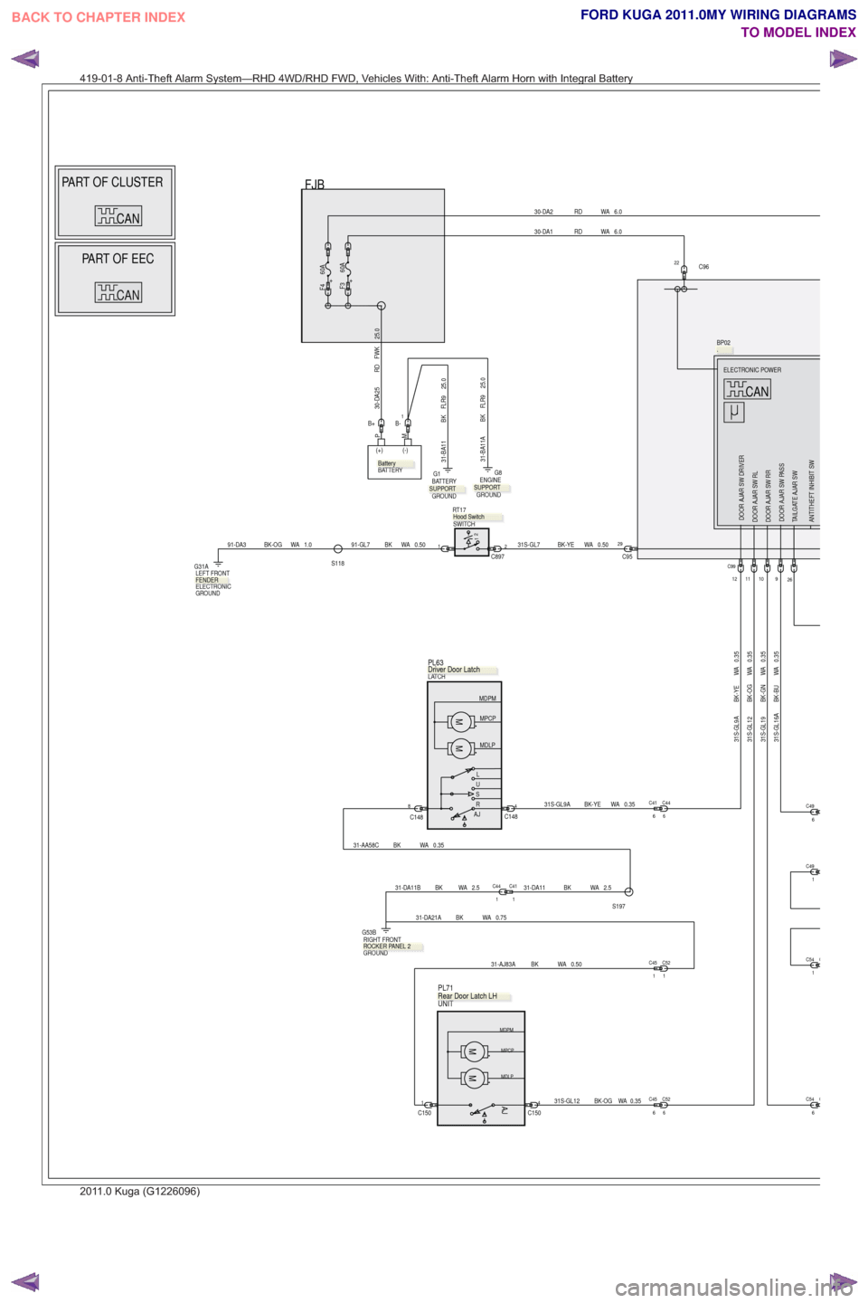 2011 ford kuga workshop with wiring diagram