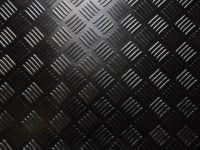 Black Garage Camper Van Floor CHECKER PLATE Rubber ...