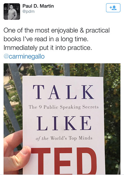 Talk Like TED - Reader Testimonials and Reviews
