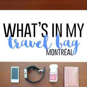 What's in my Travel Bag (Montréal)