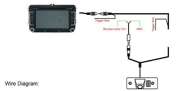 8 LED HD CCD Night Vision Backup Camera , Volkswagen Polo Reverse Camera