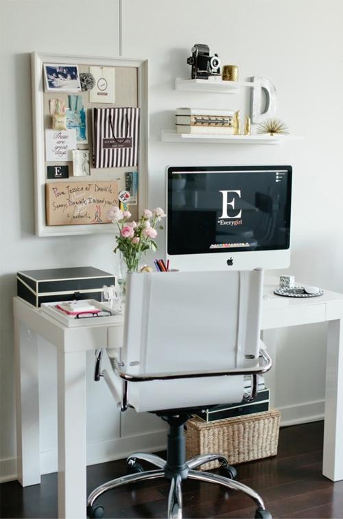 Glamorous Minimalist Home Office