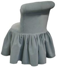 Emily Swivel Vanity Chair Gathered Skirt Chairs Carolina Chair