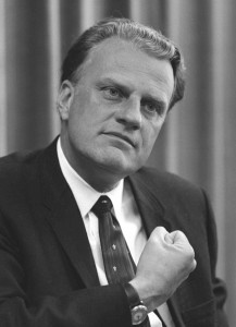 The Rev. Billy Graham, on April 11, 1966. Image courtesy of the United States Library of Congress's Prints and Photographs division