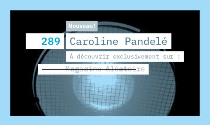 MA 289 Textes Caroline Pandelé