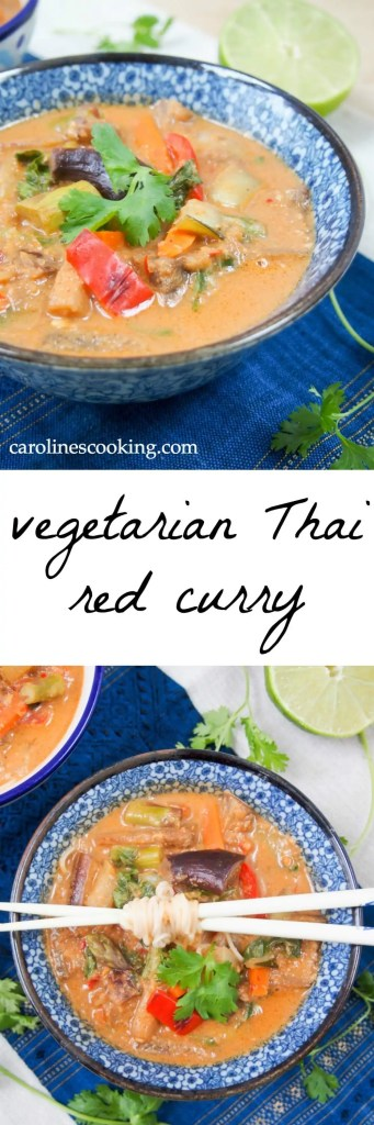 Vegetarian Thai red curry - an easy vegan curry from scratch that's ...