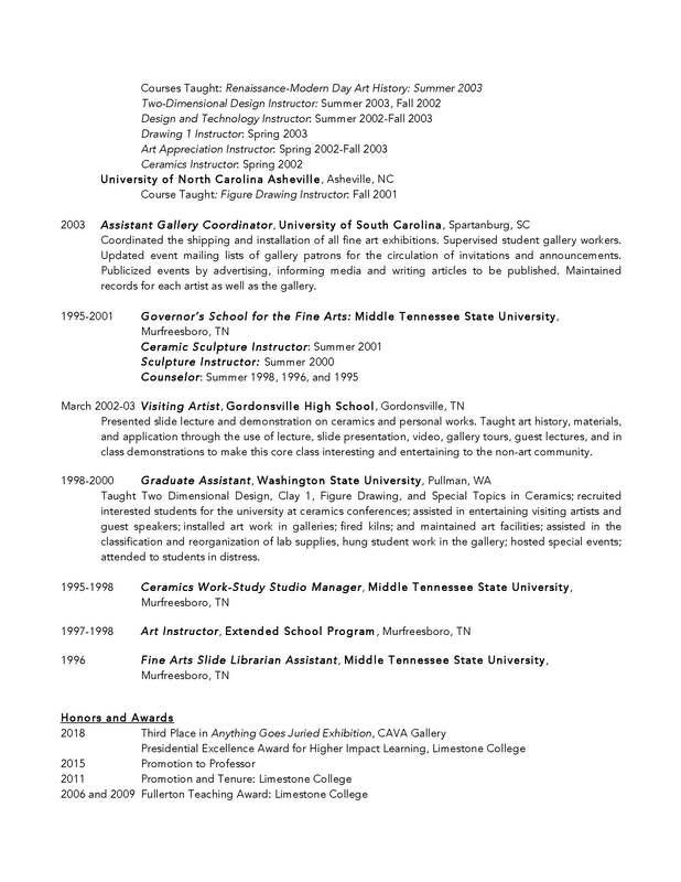 Curriculum Vitae/ Resume  Teaching Philosophy - CAROLYN FORD ART