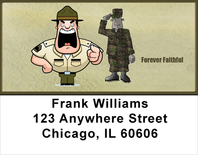 Marine Fun Address Labels