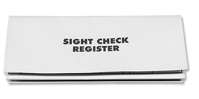 Personal  Business Check Registers