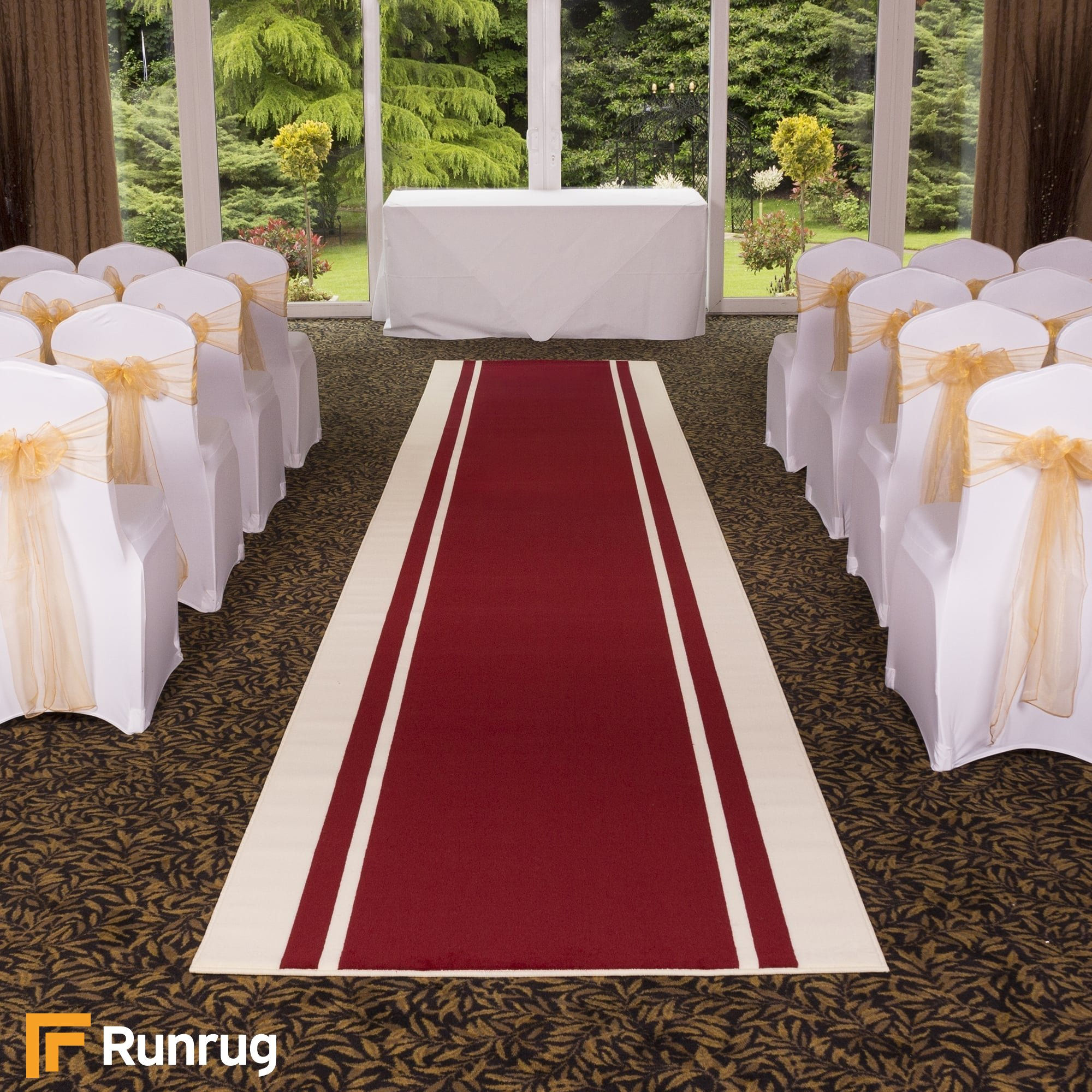 Stripe Red Wedding Aisle Vip Event Carpet Runner At Carpet