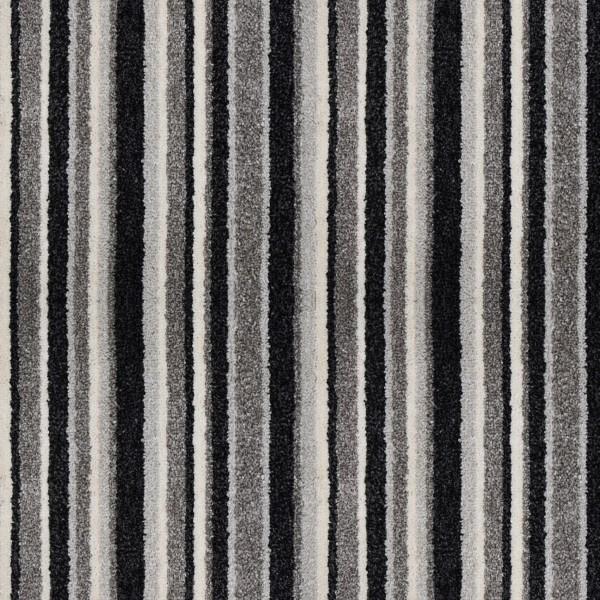 Opium Grey Silver Stripe Saxony Carpet