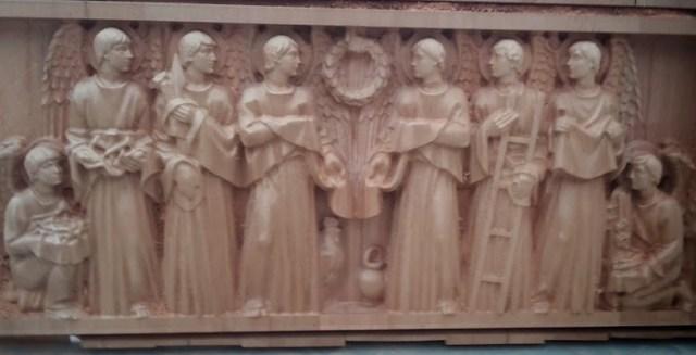 Relieve en madera de cedro