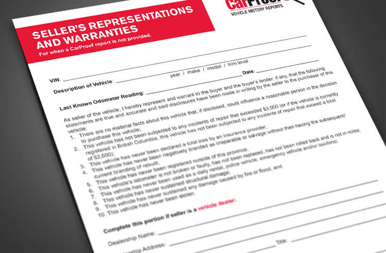 Sellers Release Form - Download the Form here CARPROOF - vehicle release form