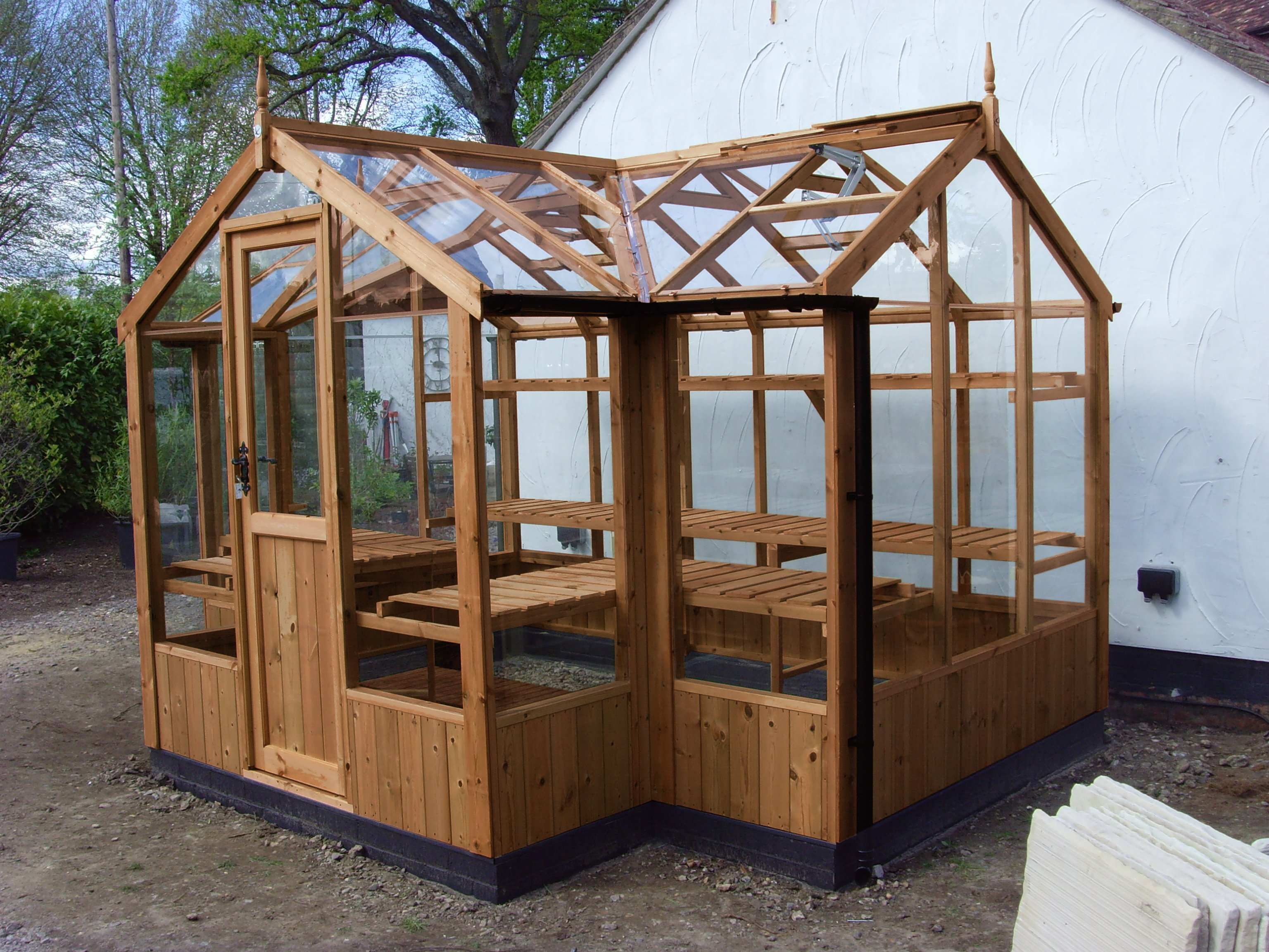 Swallow timber greenhouses carr bank garden centre pet for Greenhouse lumber
