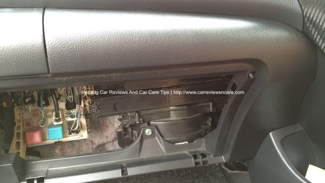 Cabin Air Filter Cover in Toyota Vios
