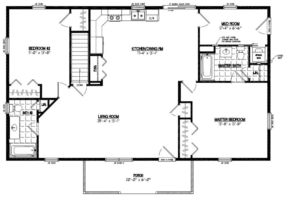 48 X 28 House Plans Home Design And Style