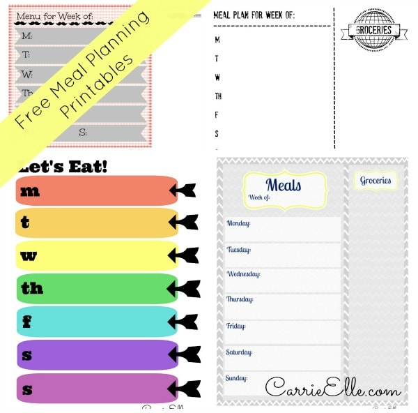 Free Meal Planning Printables (and Meal Planning Resources, Too