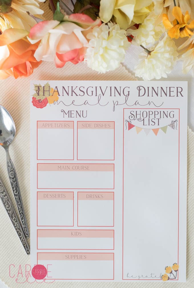 Free Thanksgiving Printable Wall Art - Carrie Elle