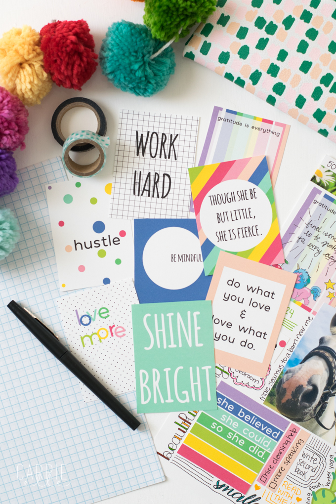 Vision Board Printable Quote Cards - Carrie Elle