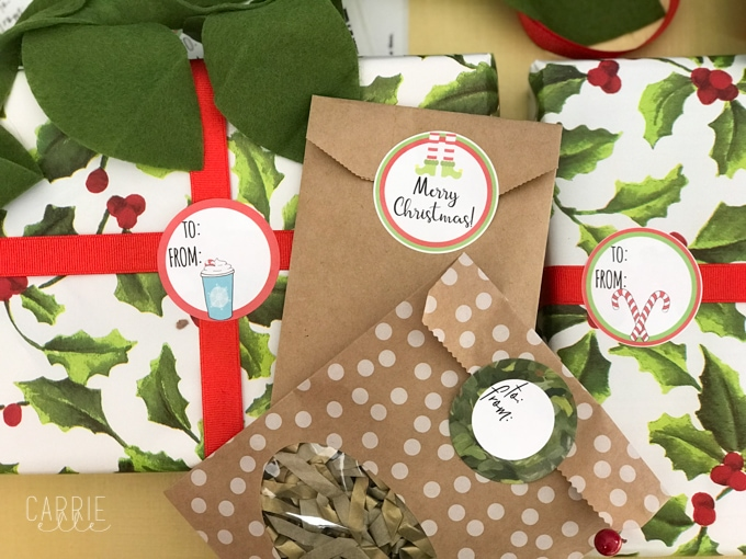 Printable Christmas Gift Tags that Work with Avery Labels - Carrie Elle