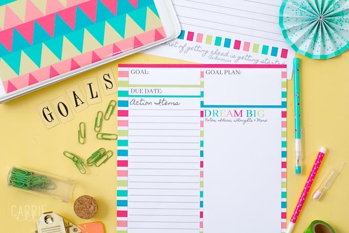 Printable Goal Planning Template - Carrie Elle