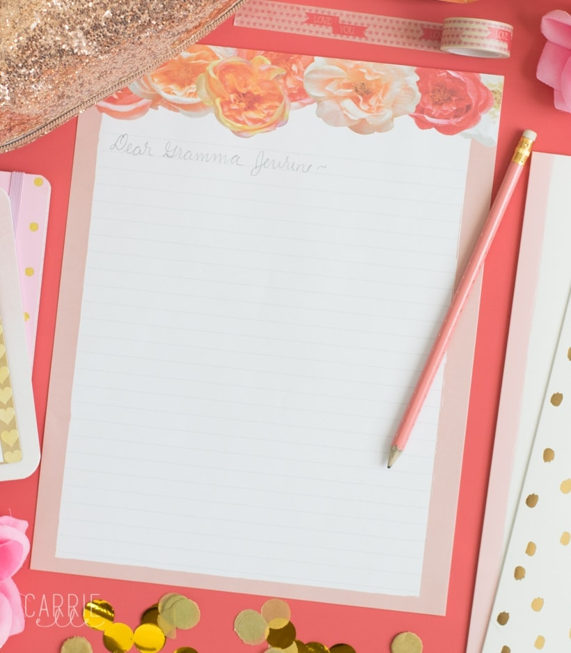 Printable Floral Stationery - Carrie Elle