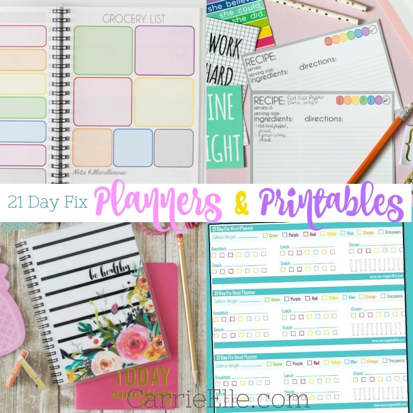 21 Day Fix Planners  Printables - Carrie Elle