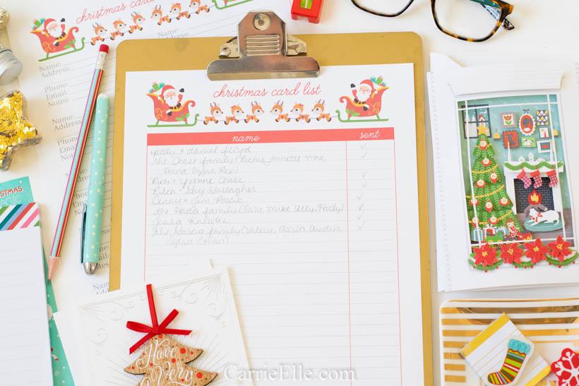 Printable Christmas Card List {and Christmas Card Spreadsheet