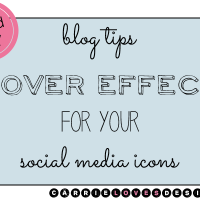 How to add cool hover effect with social media icons