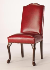 Split Camel Back Queen Anne Dining Chair with Nailhead Trim