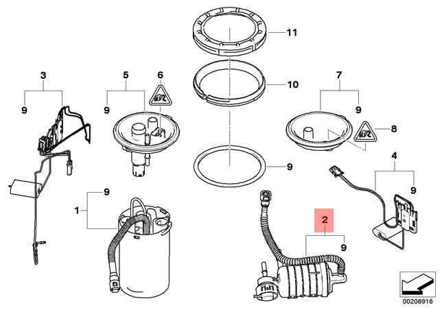 2005 bmw x3 fuel filter location