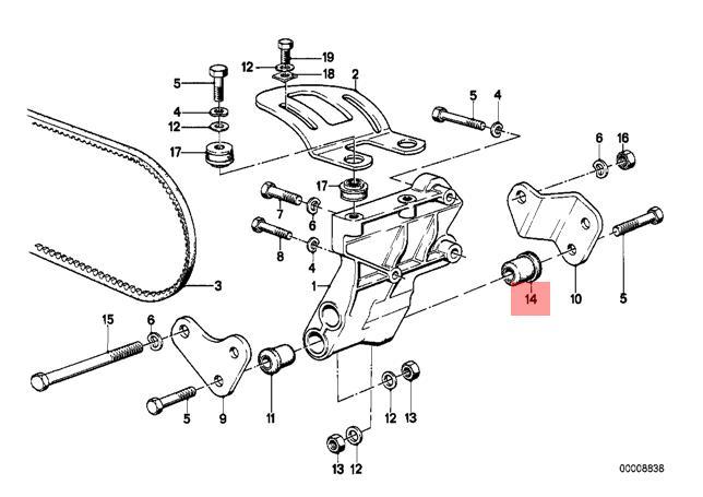 Genuine BMW E28 E30 Cabrio Engine Oil Filter Housing Bushing OEM