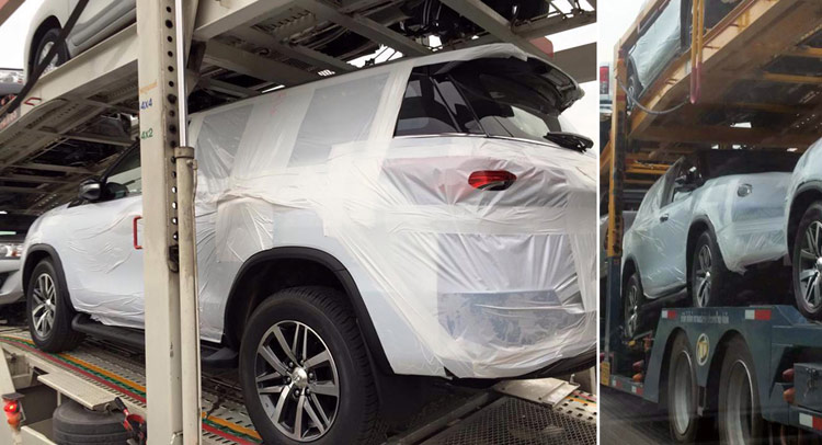 2016 toyota fortuner suv spotted in thailand