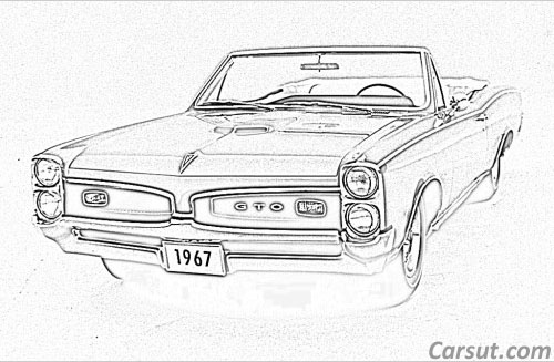 pontiac car drawings