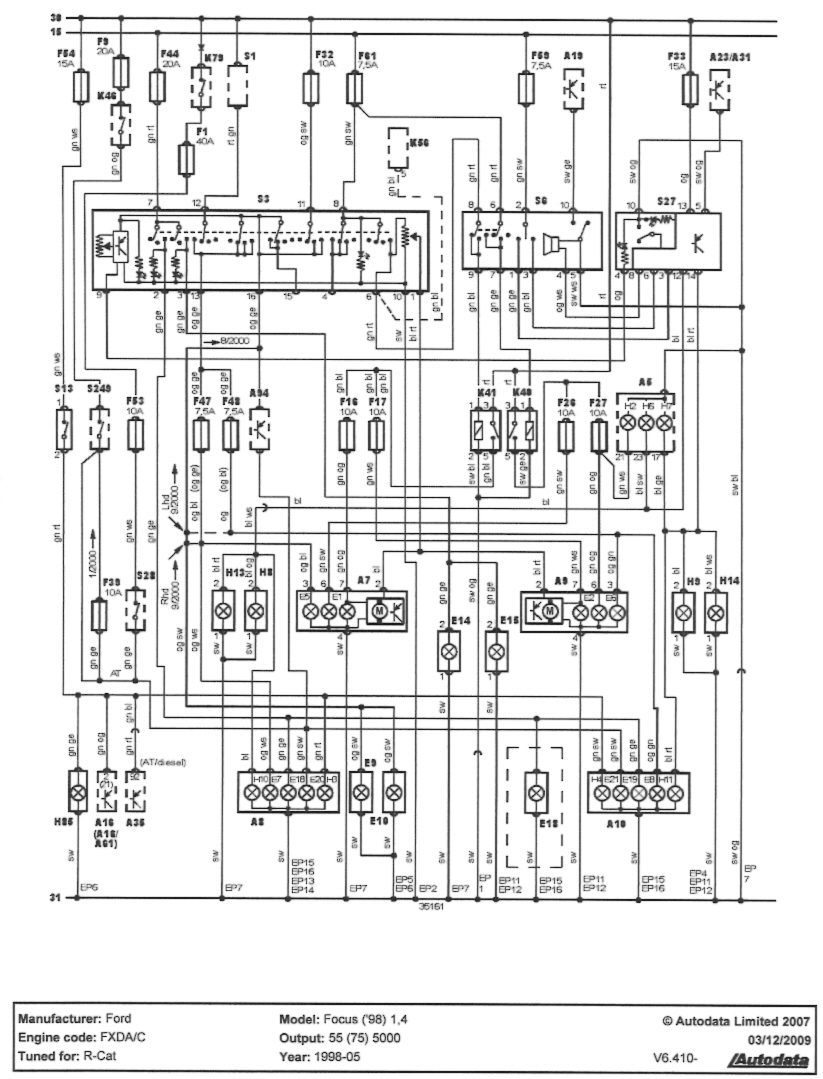 2001 ford focus headlight wiring diagram